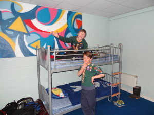 The first time on camp where they get a choice of top or bottom bunk