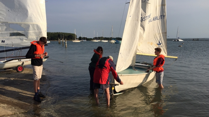 Sailing with Langstone Sailability