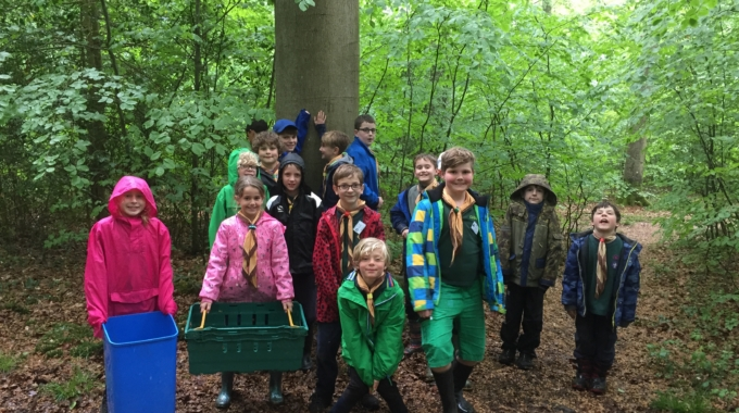 Stop press! Secret agents spotted at Soberton woods